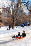 Central park witner fun Stock Photo
