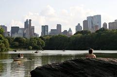 Central- Parkboote Lizenzfreies Stockfoto