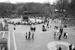 Central- Parkbrunnen Stockfoto