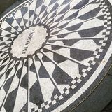 Central Parkgedenkteken aan John Lennon NYC Royalty-vrije Stock Afbeelding