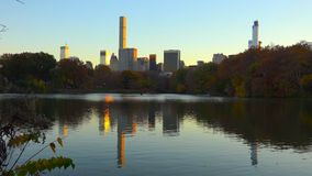 Central Parksatellietbeeld, Manhattan, New York //27-10-2018 stock afbeelding