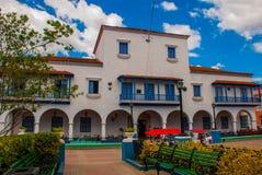Central Parque Cespedes With Ayuntamiento Building In Santiago De Cuba, Cuba Royalty Free Stock Photos