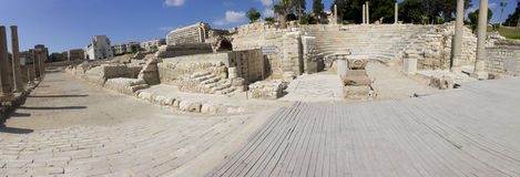 Central part of the Alexandria roman theater Stock Photography