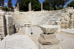 Central part of the Alexandria roman theater Stock Image