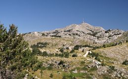 Central part of Biokovo mountains Stock Photography