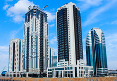 The central part of the city of Grozny Stock Photography