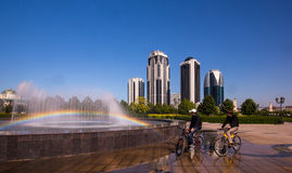 The central part of the city of Grozny Stock Images