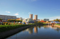 The central part of the city of Ivanovo, Russia Stock Photos
