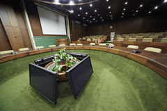 Central part of empty board hall. Royalty Free Stock Photos