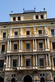 Central part of the facade of an important building in Trieste in Friuli Venezia Giulia (Italy) Royalty Free Stock Photo