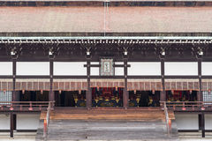 Central part of front of Shishinden hall. Stock Photos