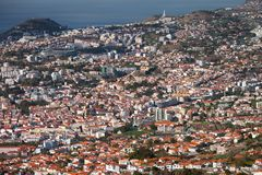 Central part of Funchal,Madeira Stock Photos