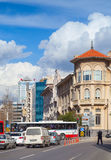 Central part of Izmir city, street view Stock Image