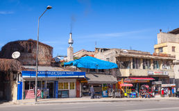 Central part of Izmir city, street view Stock Photography
