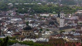 Central Part Of Lviv City, Ukraine. stock footage