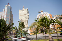 Central part of modern Macau Royalty Free Stock Image