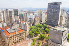 The central part of Sao Paulo Royalty Free Stock Photo