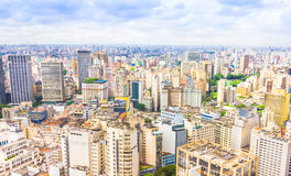The central part of Sao Paulo Stock Photos
