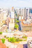 The central part of Sao Paulo Royalty Free Stock Image