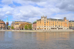 Central part of Stockholm Royalty Free Stock Images