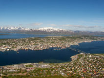 The central part  of Tromsoe Stock Image