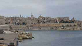 Central part of Valletta - capital of Malta - time lapse. The city of Valletta was mostly complete by the early 1570s. The entire city of Valletta has been a stock video footage