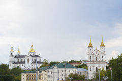 Central part of Vitebsk city Stock Photos
