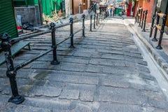 Central pedestre Hong Kong de Soho das ruas Fotos de Stock Royalty Free