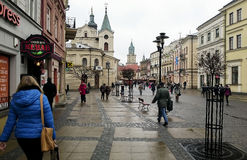 The central pedestrian street of Lublin Royalty Free Stock Photography