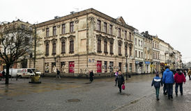 The central pedestrian street of Lublin Stock Images