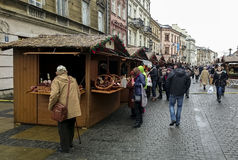 The central pedestrian street of Lublin Royalty Free Stock Images