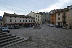 Central Pennabilli fyrkant, Italien royaltyfri foto