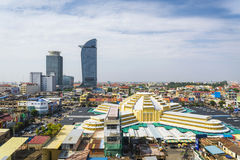 Central phnom penh in cambodia Royalty Free Stock Image