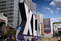 Central Phoenix för fan för Verizon Super Bowl XLIX arkivfoton
