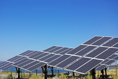 Central of photovoltaic panels. Stock Images