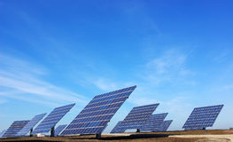 Central of photovoltaic panels. Royalty Free Stock Photography