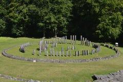 Central piece of the Sarmizegetusa Regia Sanctuary Stock Photography
