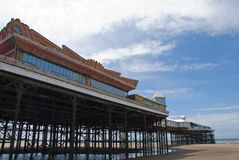 Central Pier Blackpool from beach Royalty Free Stock Photos