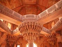 The central pillar of Diwan-i-khas Stock Photos