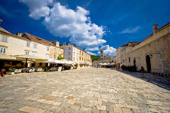 Central Pjaca square of Hvar town Royalty Free Stock Images
