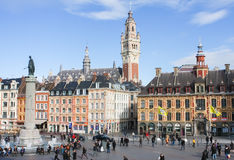 Central Place General de Gaulle in Lille, France. Stock Photography