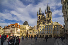 Central place in old town of Prague Stock Photography