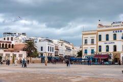 Central plaza av Essaouira, Marocko Royaltyfria Bilder