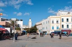 Central plaza av Essaouira, Marocko Royaltyfria Foton