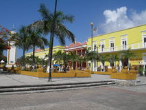 The central plaza in Cozumel Island. The central plaza in San Miguel, Cozumel Island, Mexico, on the Caribbean sea Royalty Free Stock Image