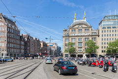 Central plaza of the Dutch capital city Amsterdam Stock Photography