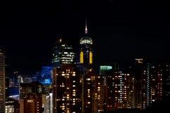Central Plaza Hong Kong Skyscraper at night Stock Photos