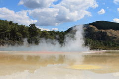 Central Pools of Wai-o-Tapu, Thermal wonderland Stock Photography