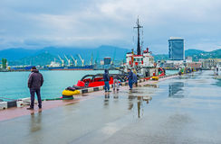 The central port of Batumi Stock Photography