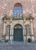 Central portal (1692) of St. Peter church in Riga, Latvia Royalty Free Stock Images